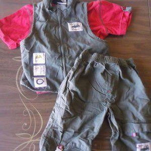 Safari Theme 3 pc Set (Pants, Tee & Vest) 2T